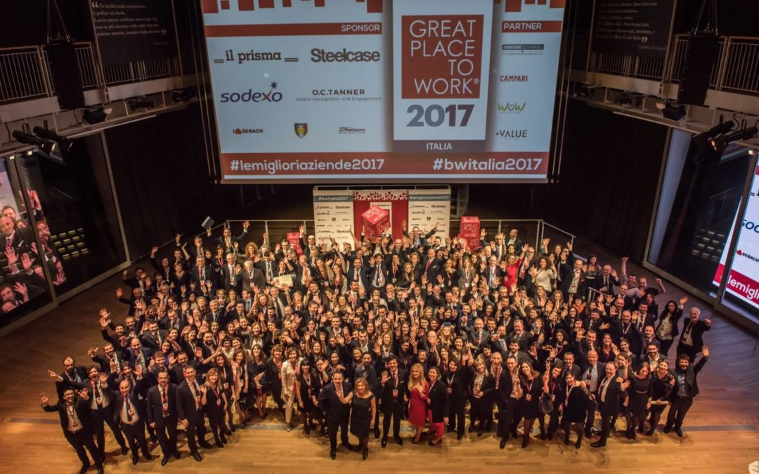 Quali sono le migliori aziende italiane 2017 nelle quali lavorare? Best Workplaces Italia 2017